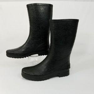 UGG Wilshire Raised Logo Rubber Boot Rain Black